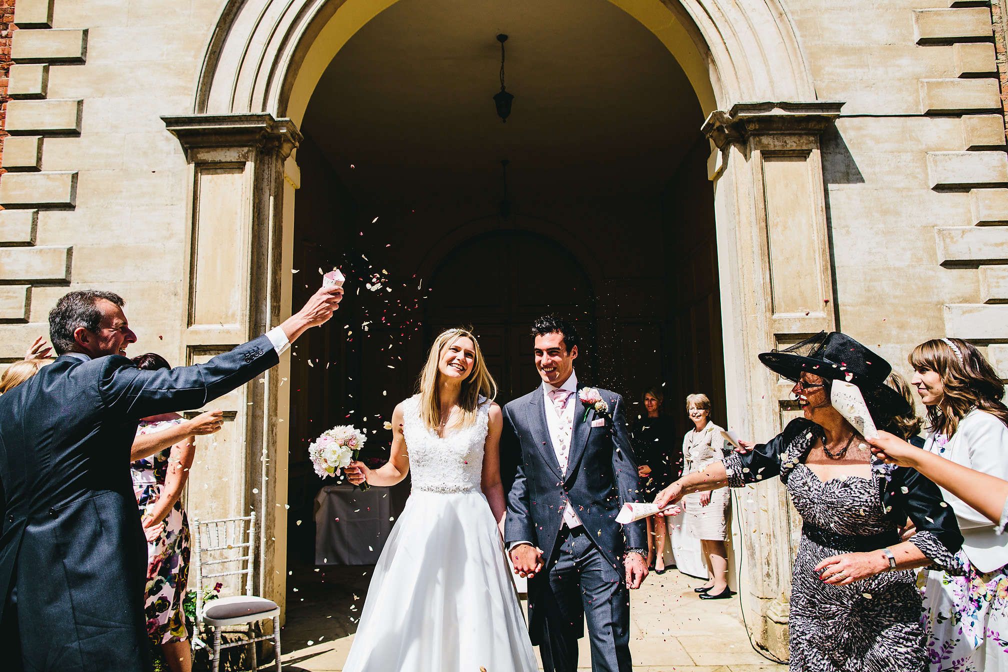Gorgeous confetti shot at Kimbolton Castle