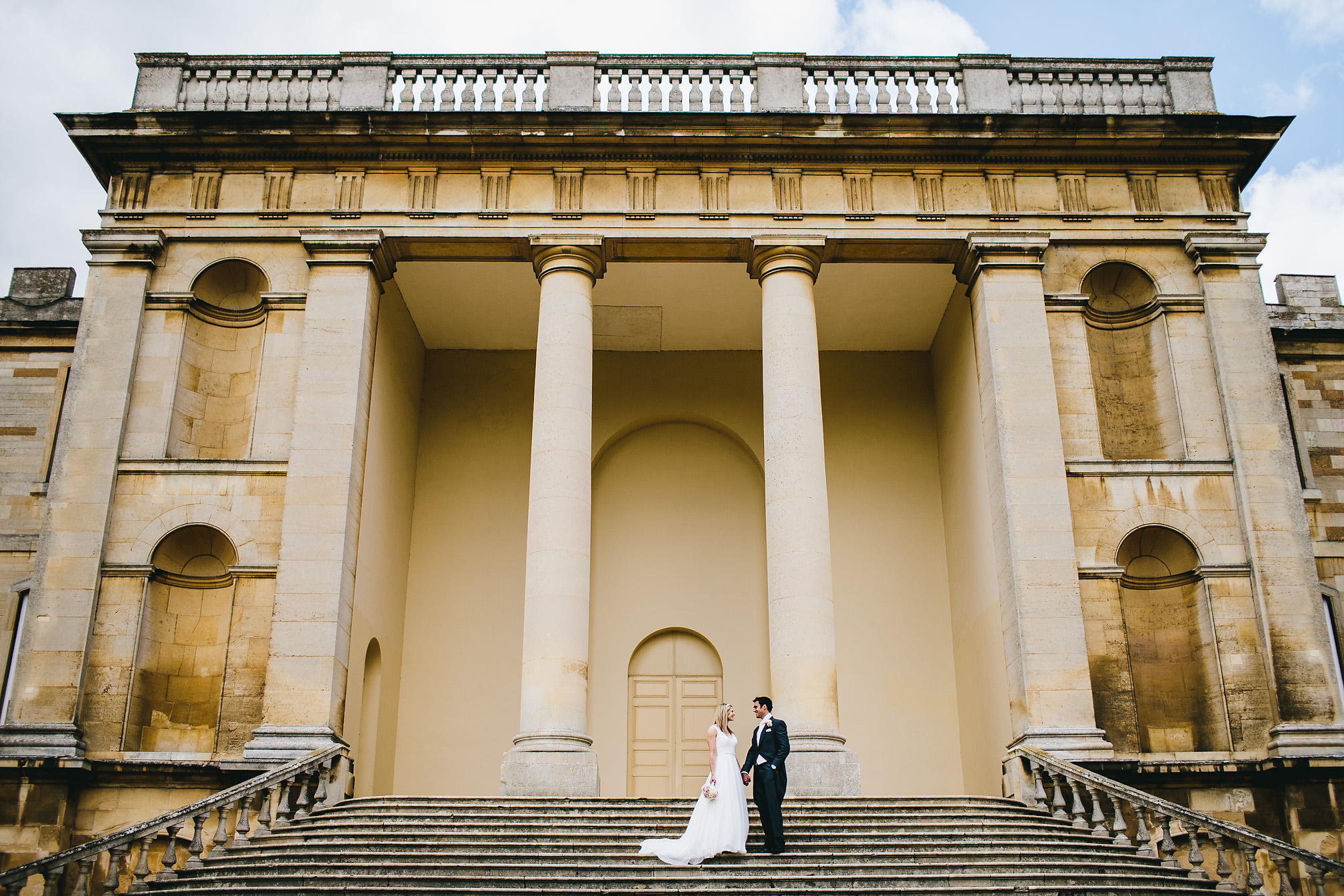 Kimbolton Castle Wedding Steps Picture
