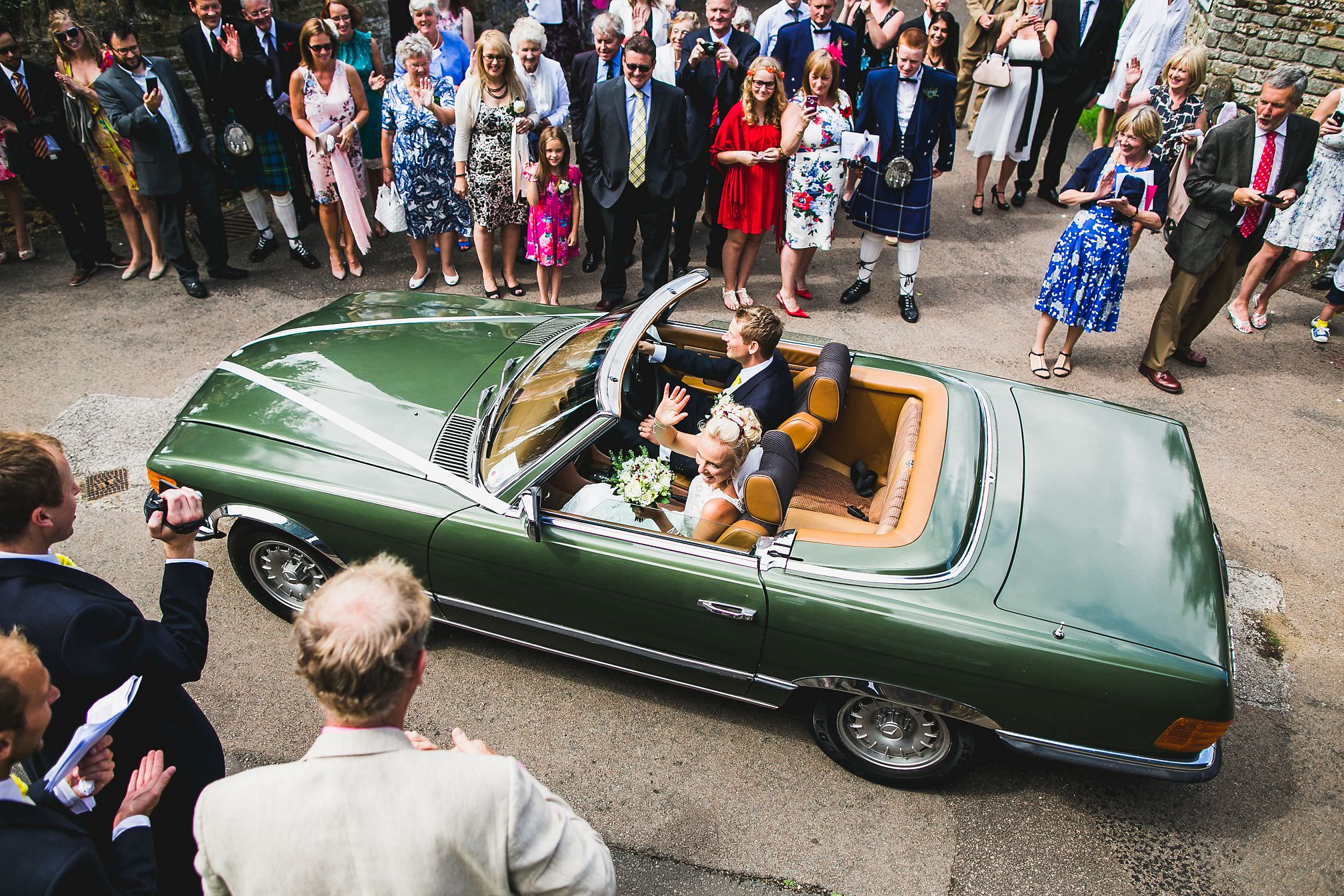 WedAward - Louisa & Nick, Wedding Car Getaway