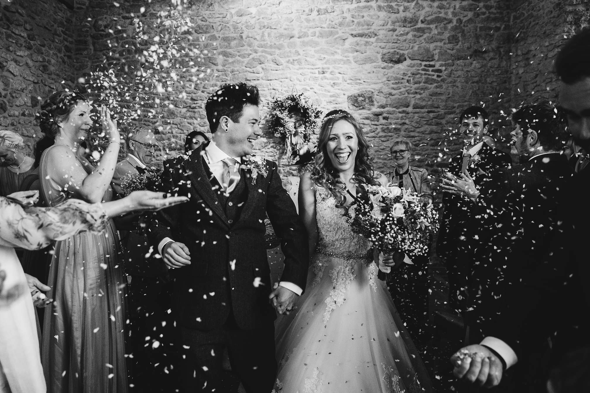 Dodford Manor Confetti Picture in Black and White