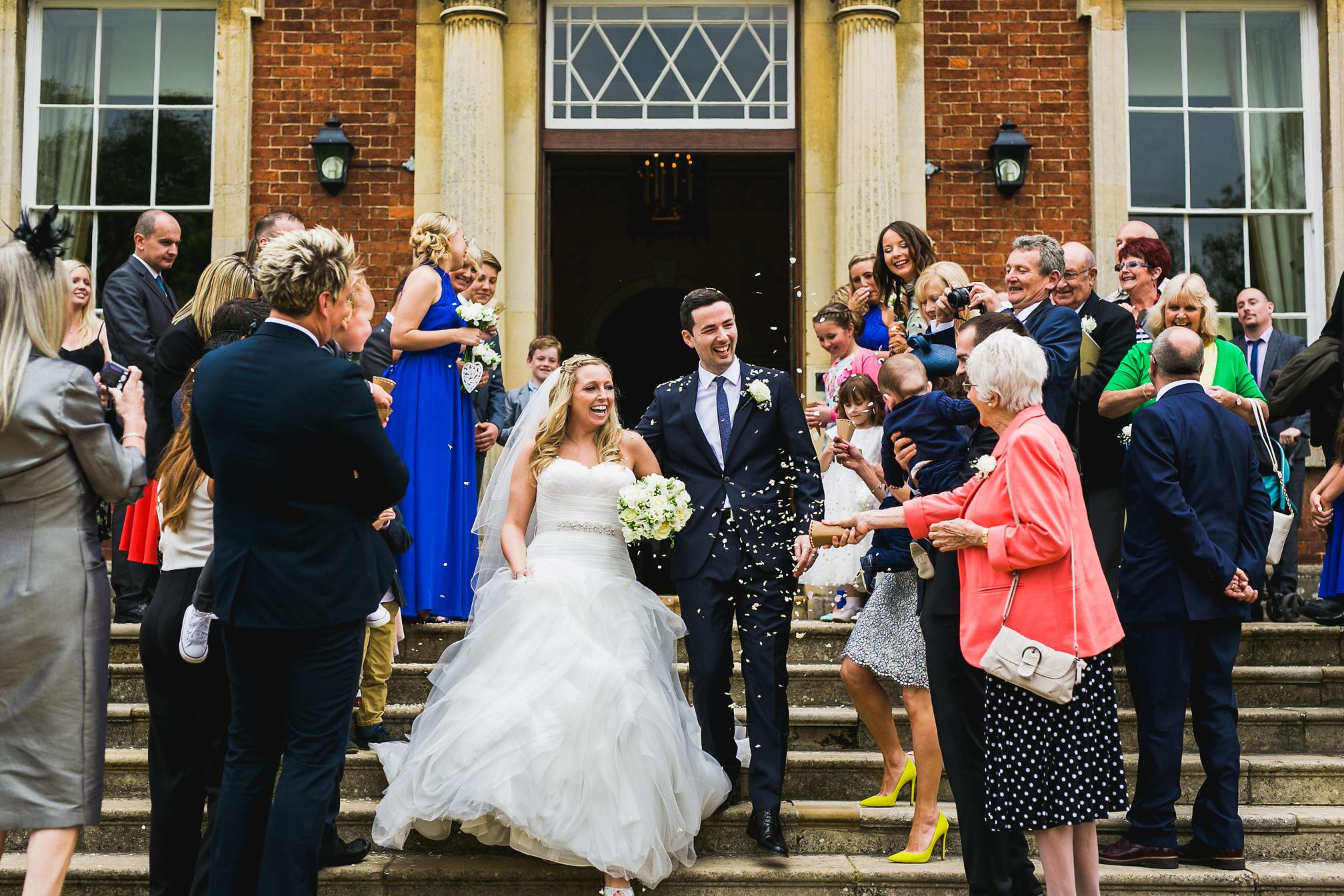 Kelmarsh Hall and Gardens confetti on the steps