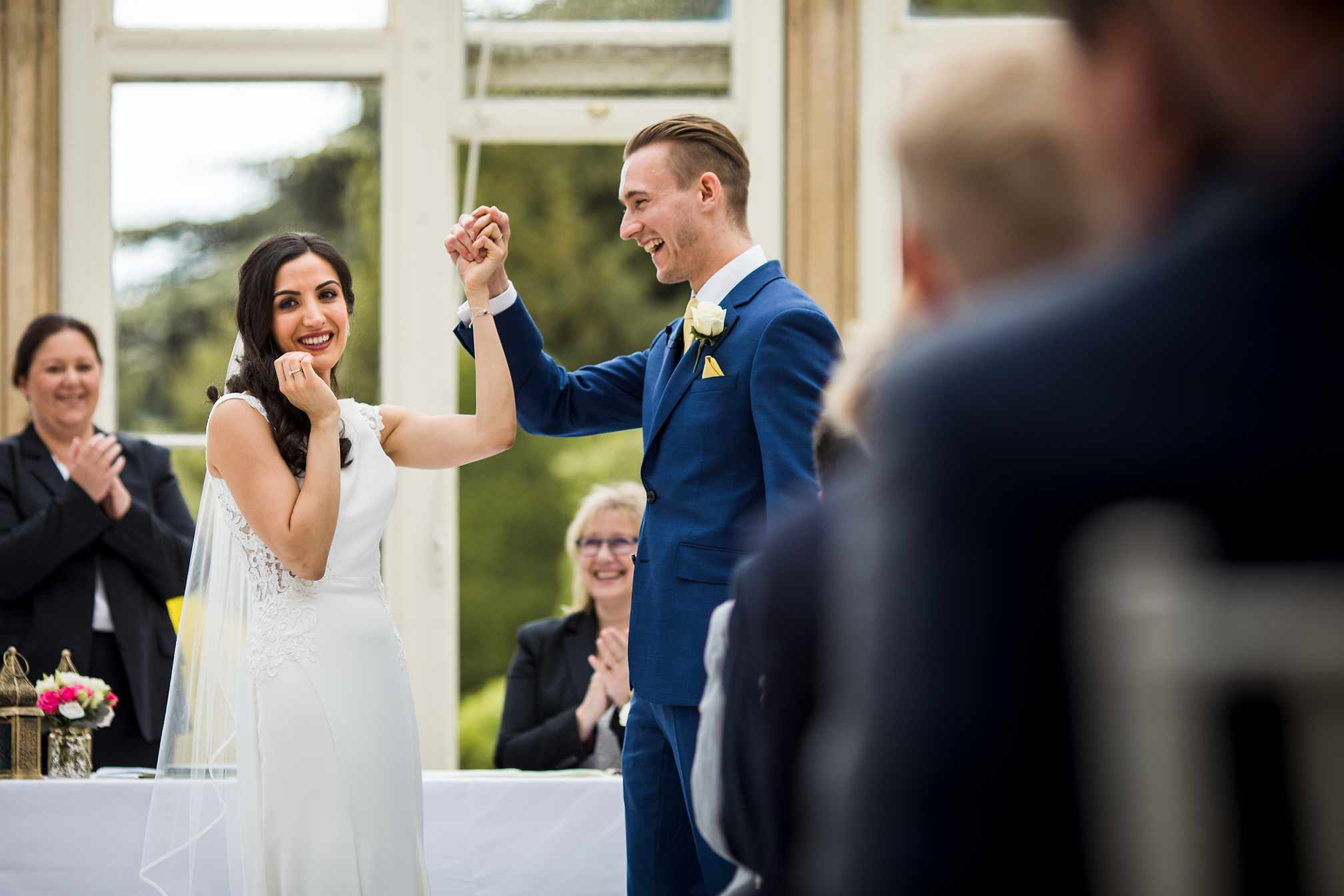 Newlyweds at Stoke Rochford