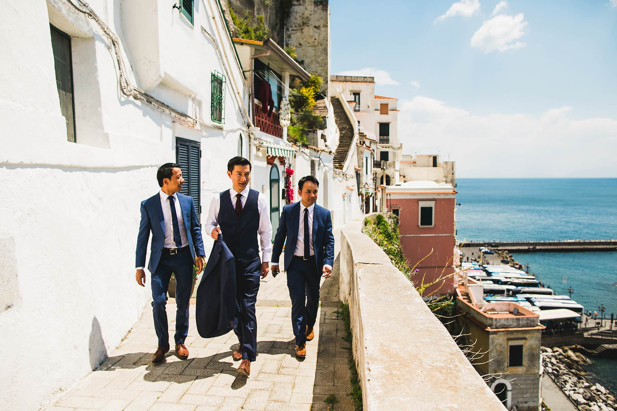 Coastal Wedding walk, Ravello