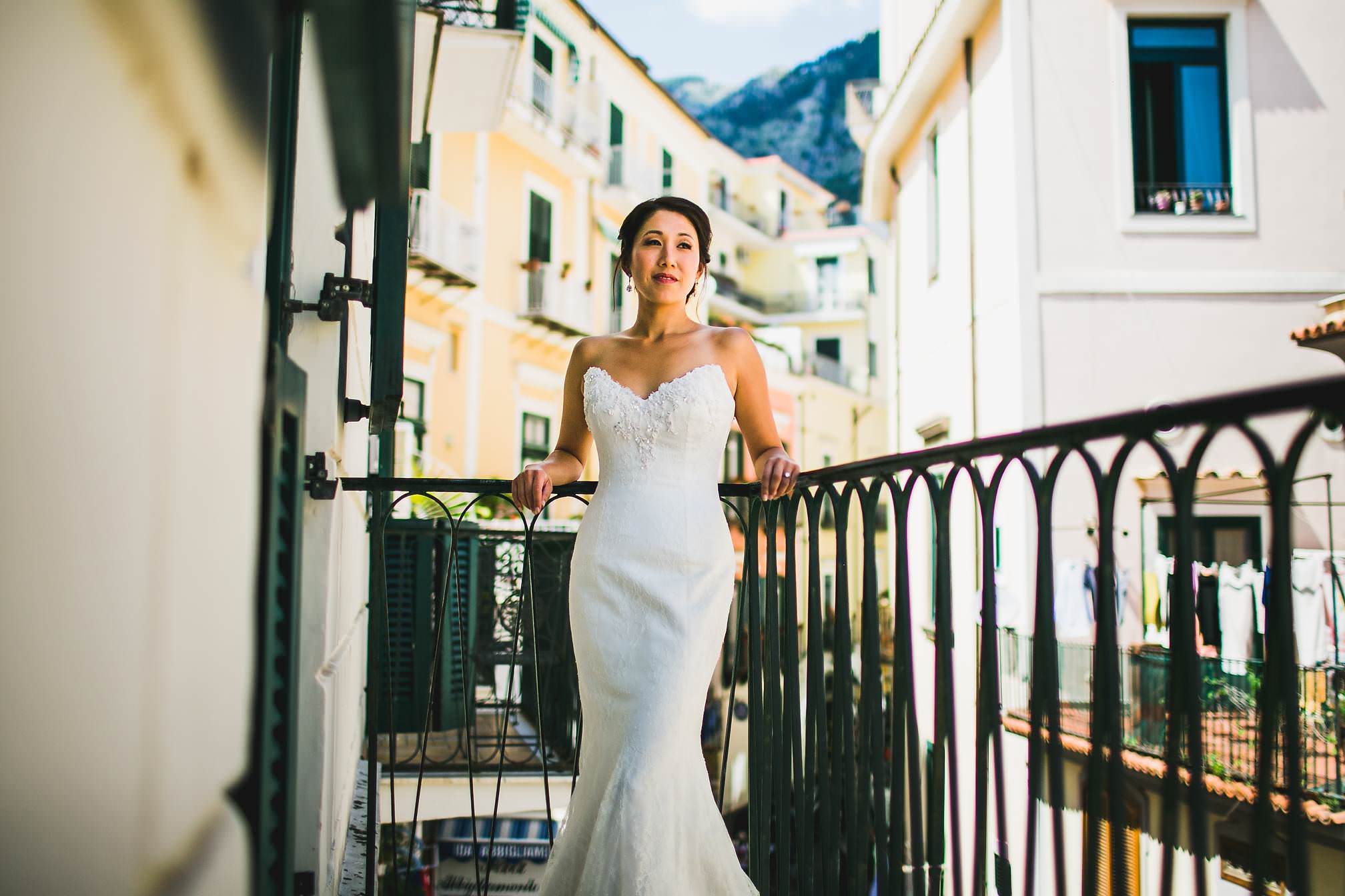 Portrait of Emi on her Balcony, Amalfi Coast
