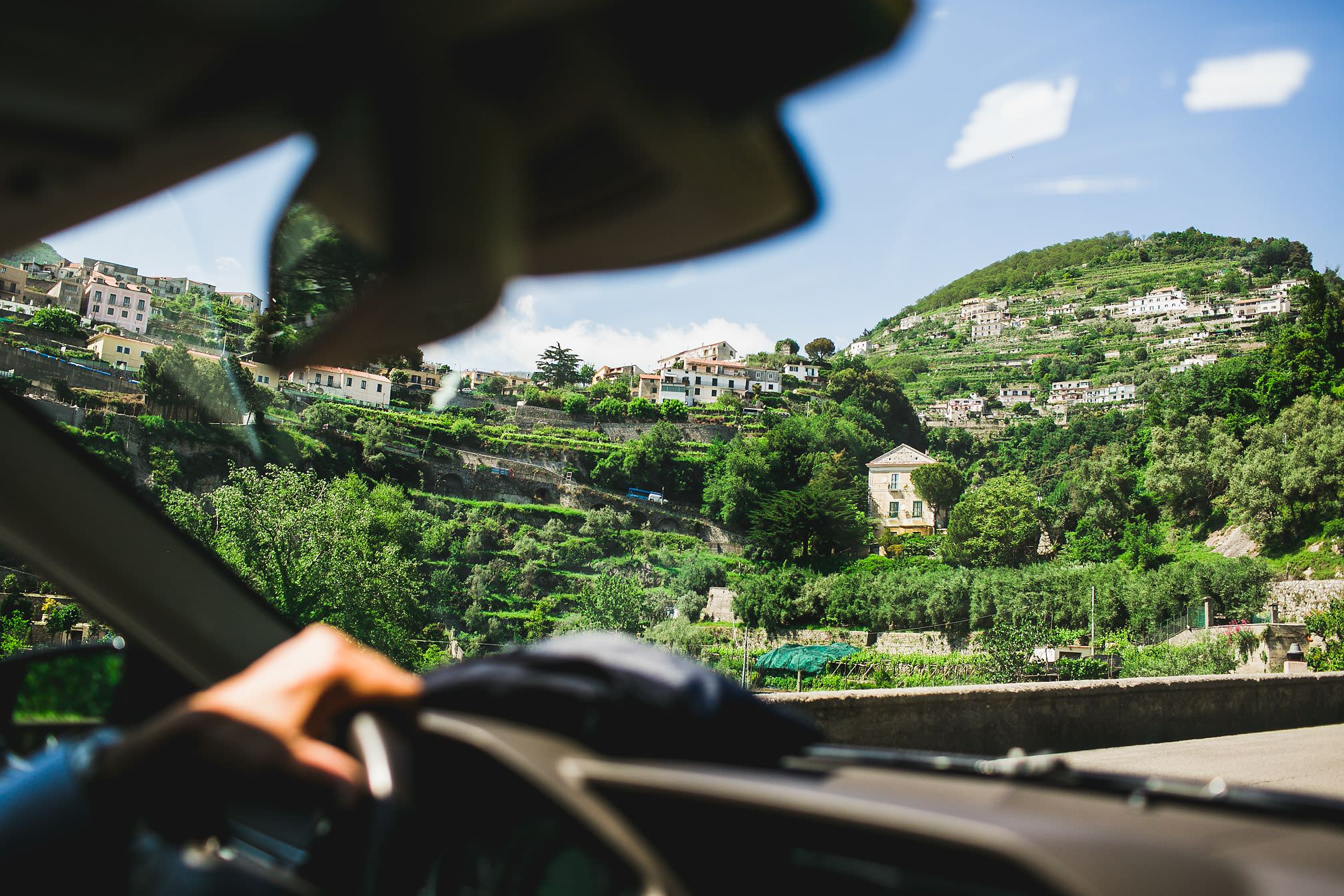 The drive from Amalfi to Ravello