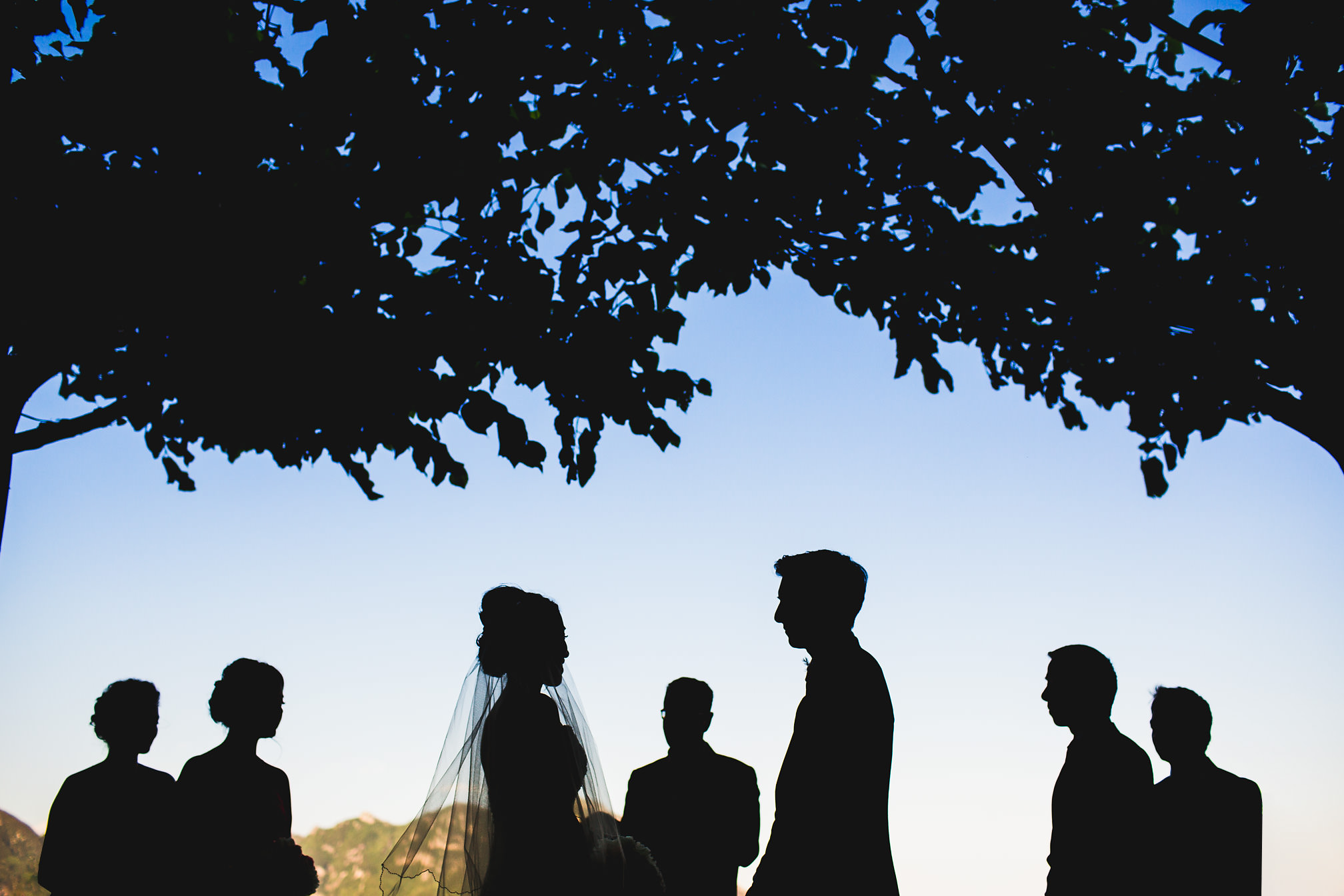 Amazing wedding silhouette, Amalfi Coast