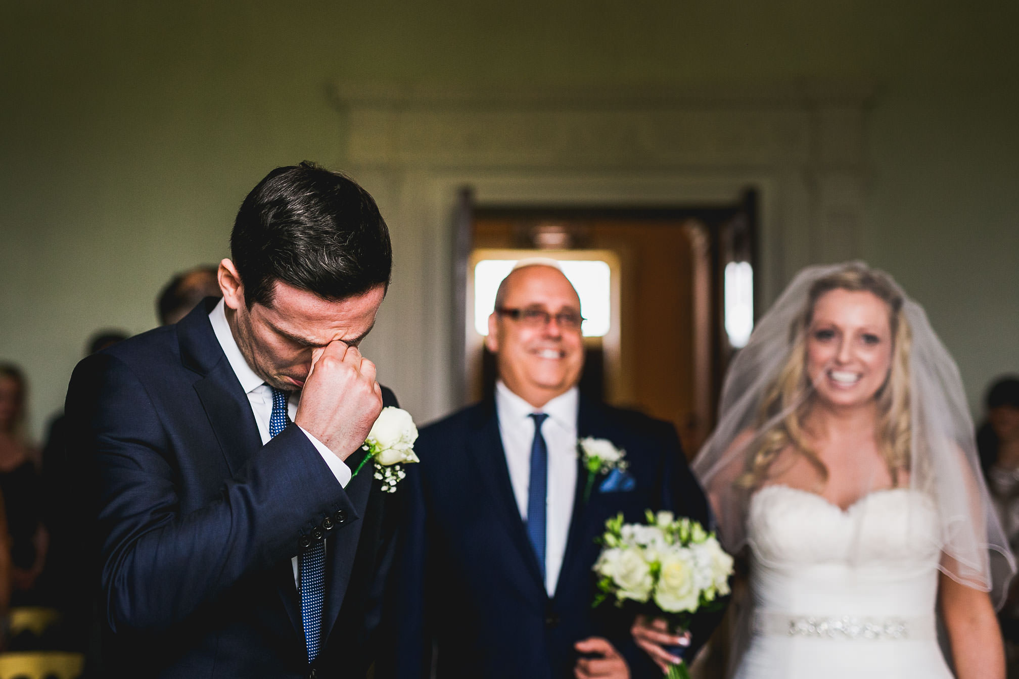 Rangefinder Magazine 30 Rising Stars of Wedding Photography 2017 - Emotional Groom at Kelmarsh Hall