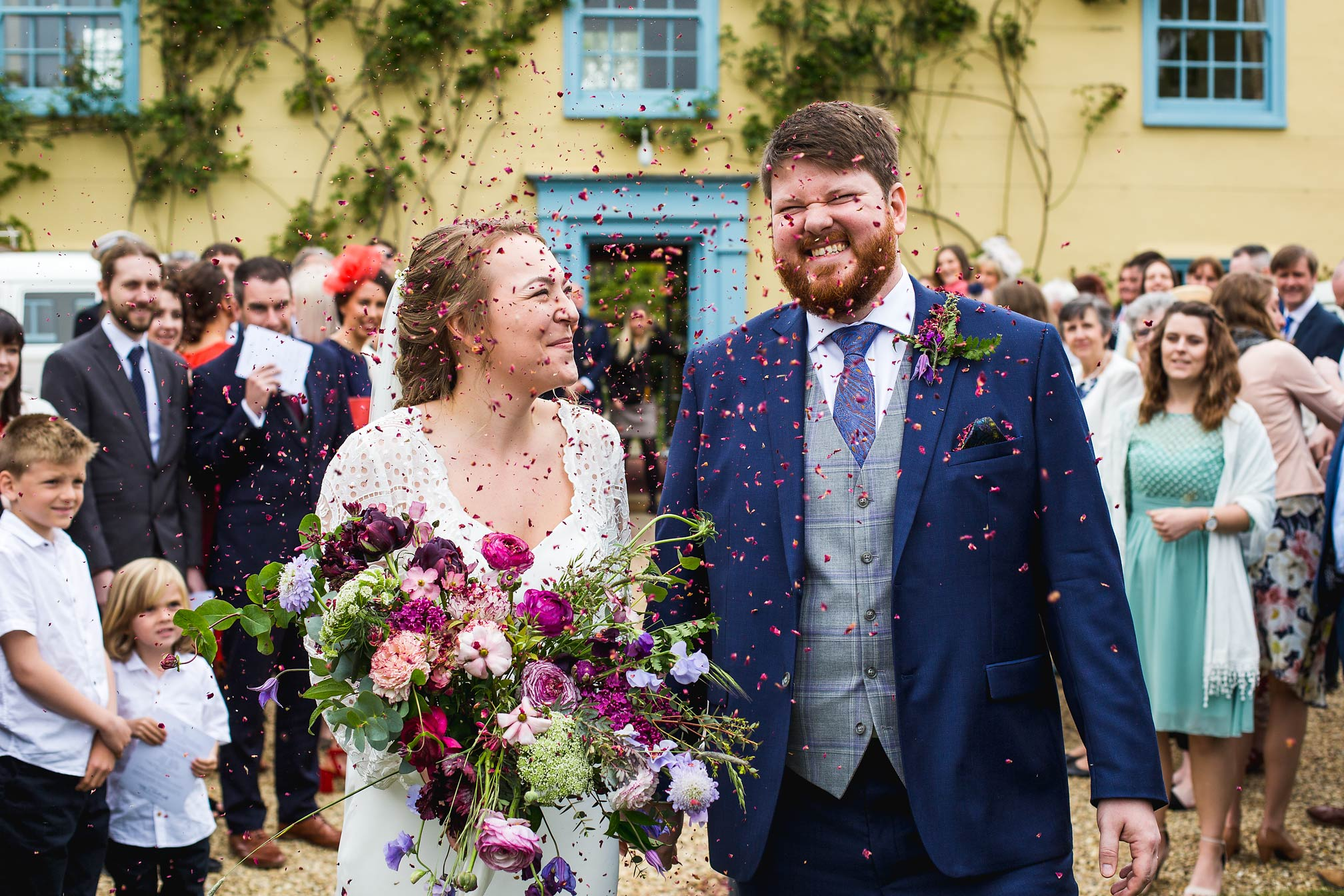 South Farm Wedding Photography - Confetti!