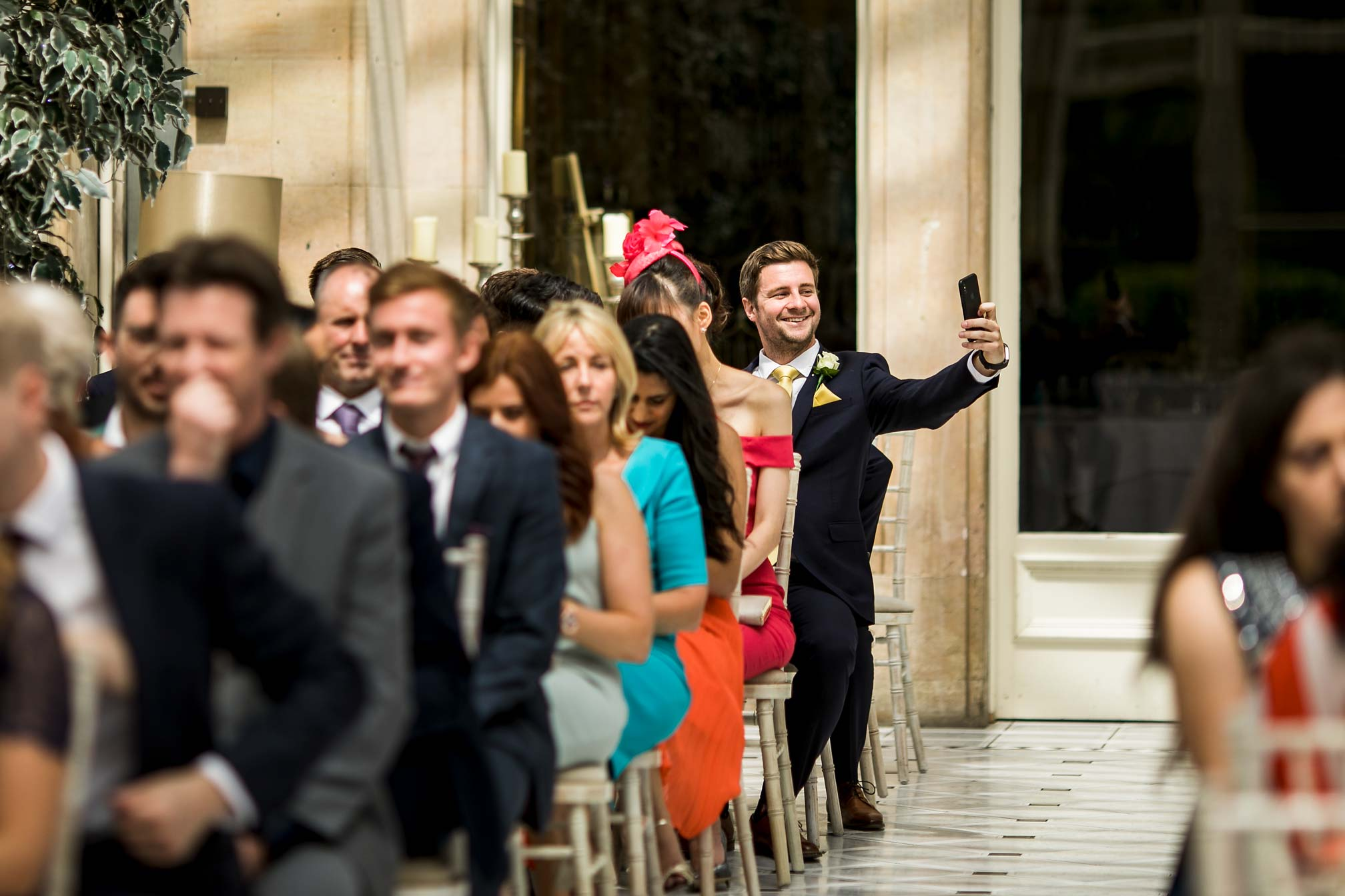 Stoke Rochford Hall, Award Winning Wedding Selfie