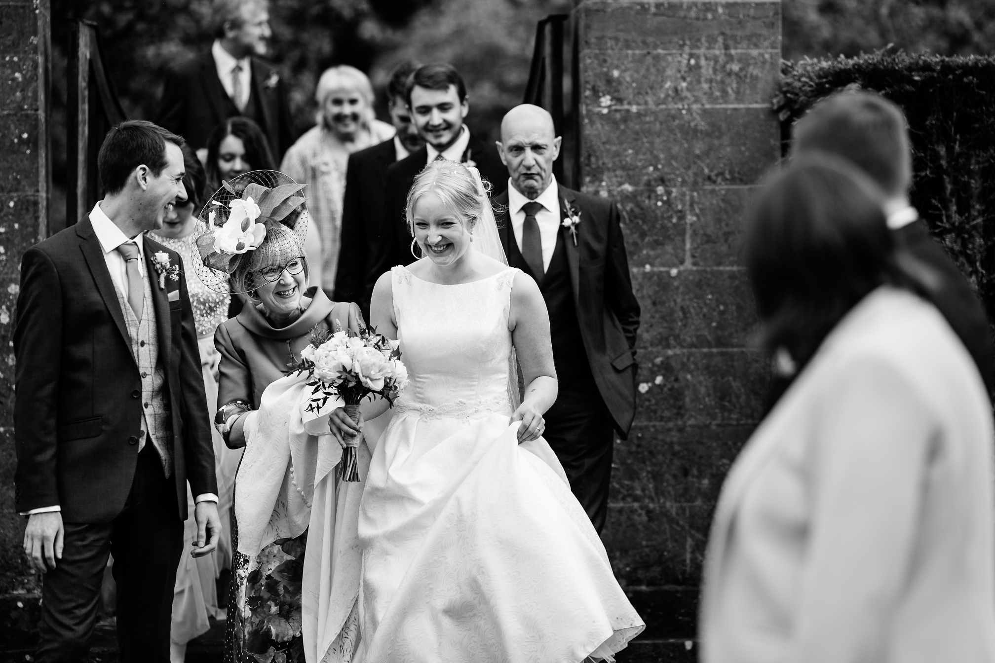 Happy bride at Sulgrave Manor
