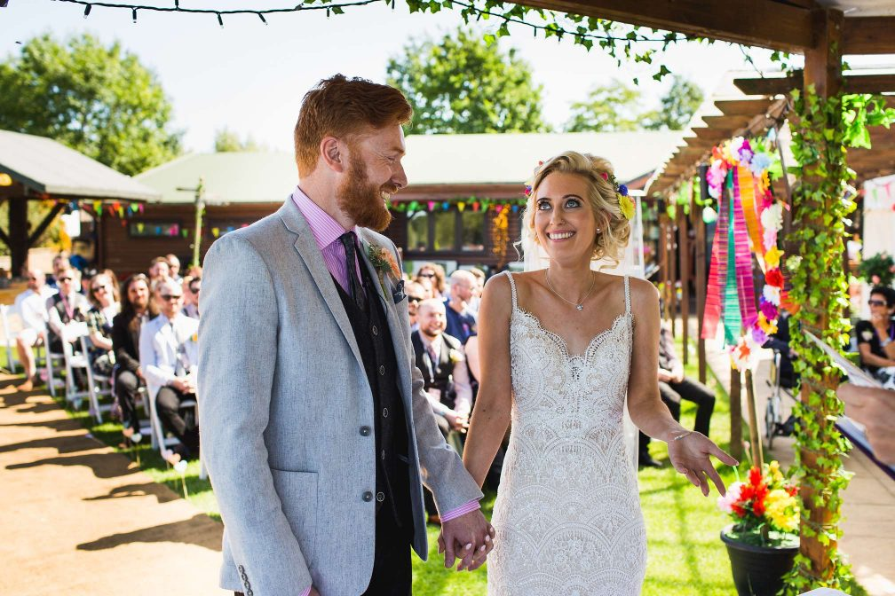 Sam and Scott's wedding at Grendon Lakes