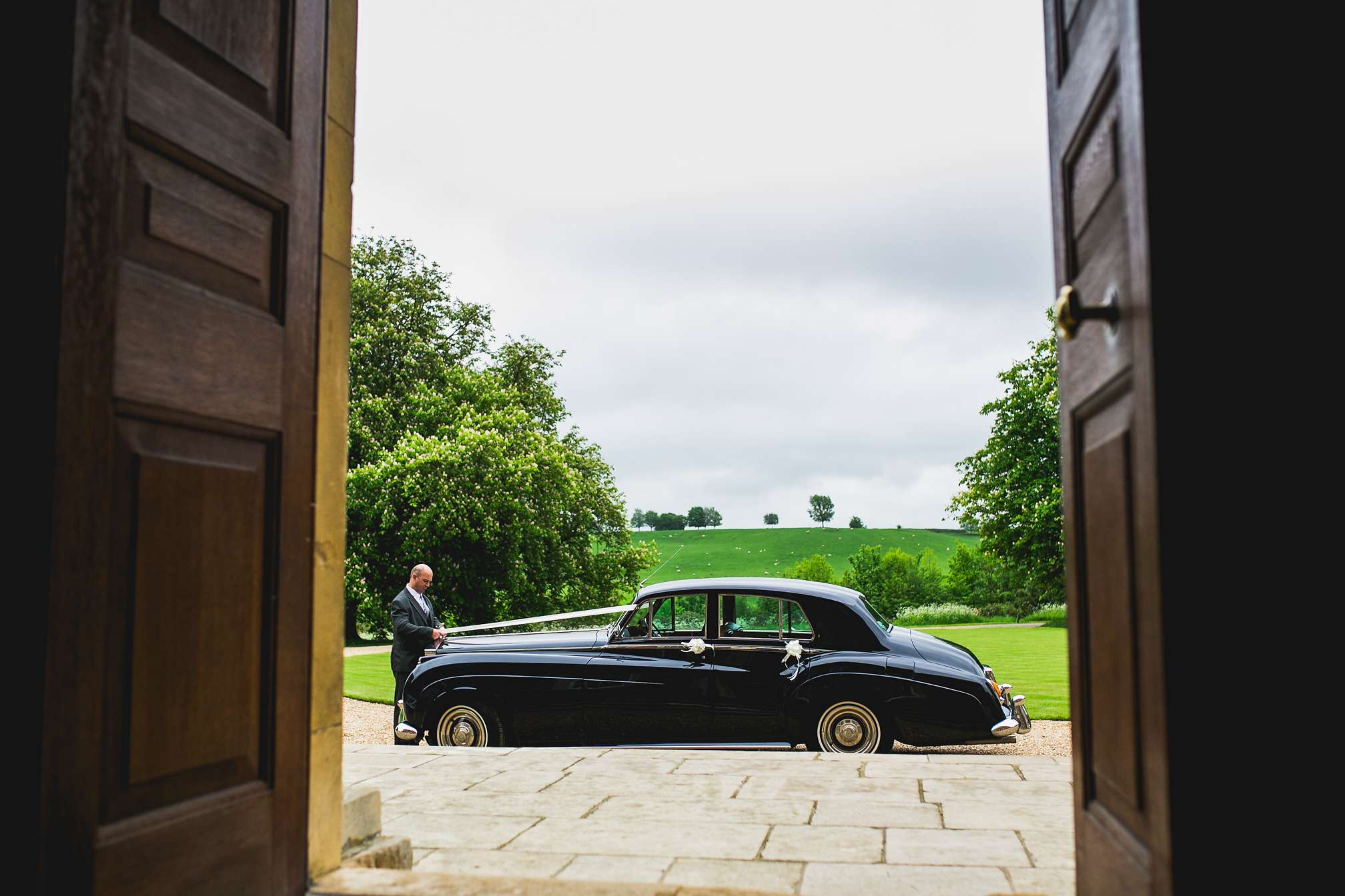 MyWed Editors Choice - Traditional Car at Kelmarsh Hall