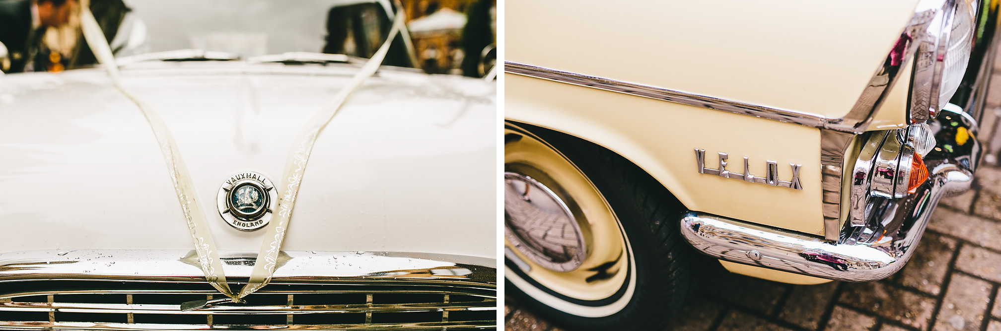 Retro Vauxhall Velox Wedding Car