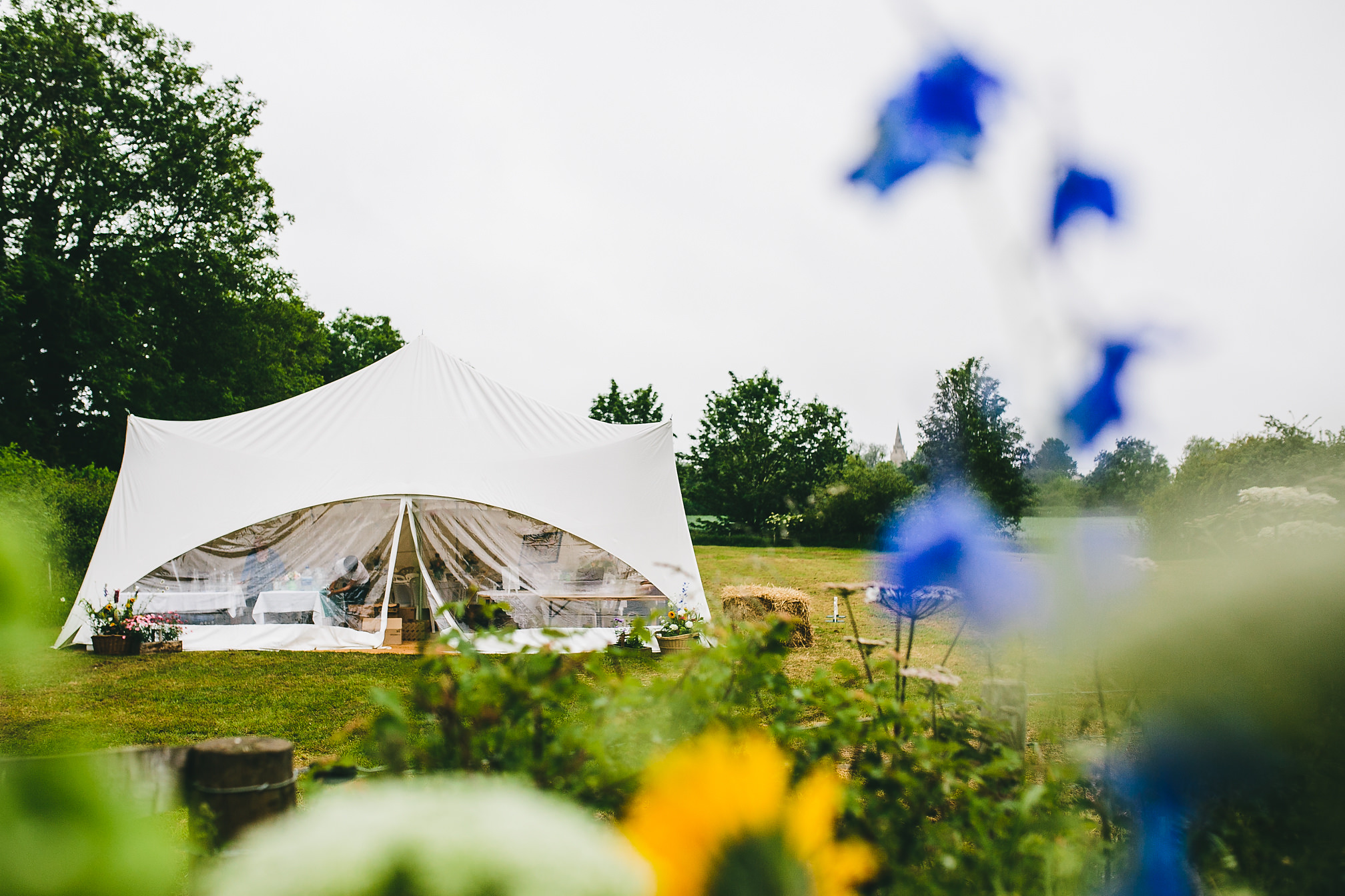 Northamptonshire Village Hall Tent Wedding