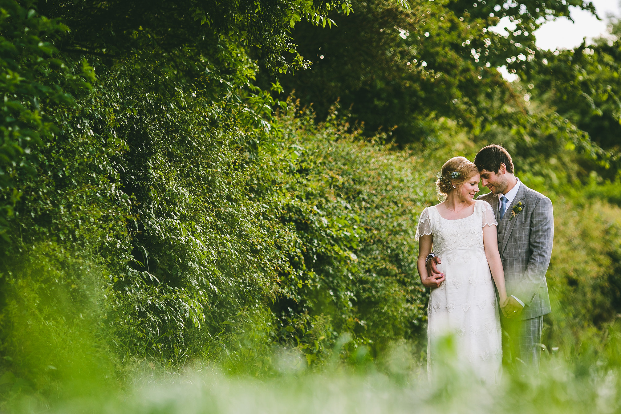 Gorgeous Rural Wedding Portrait