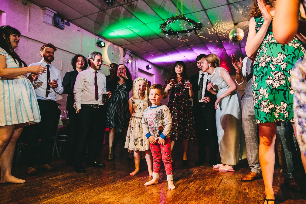 Little boy in PJ's during first dance