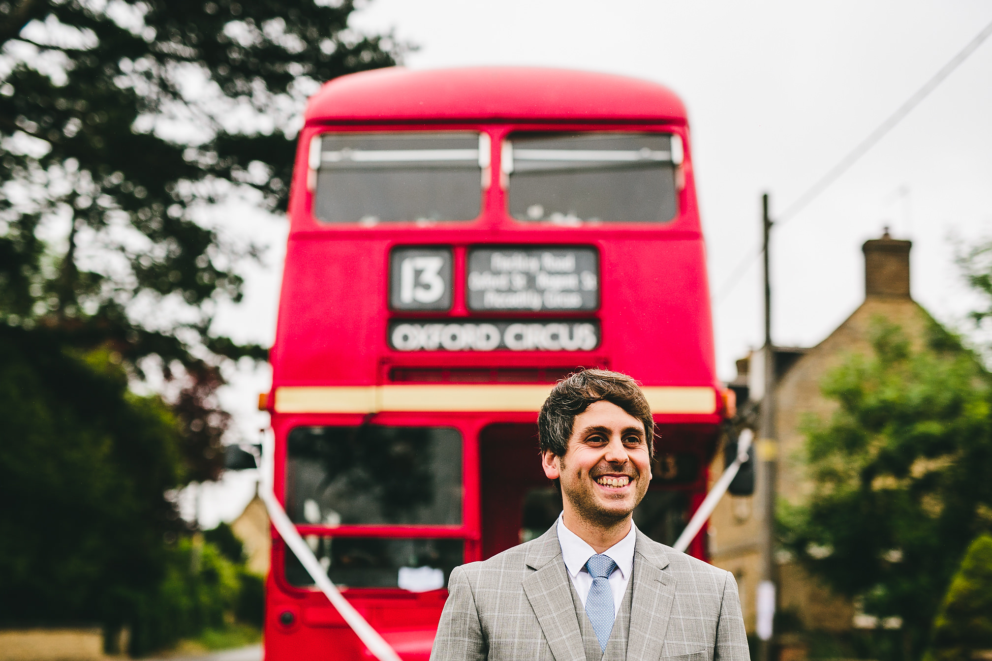 Vintage London Red Double Decker Wedding Bus