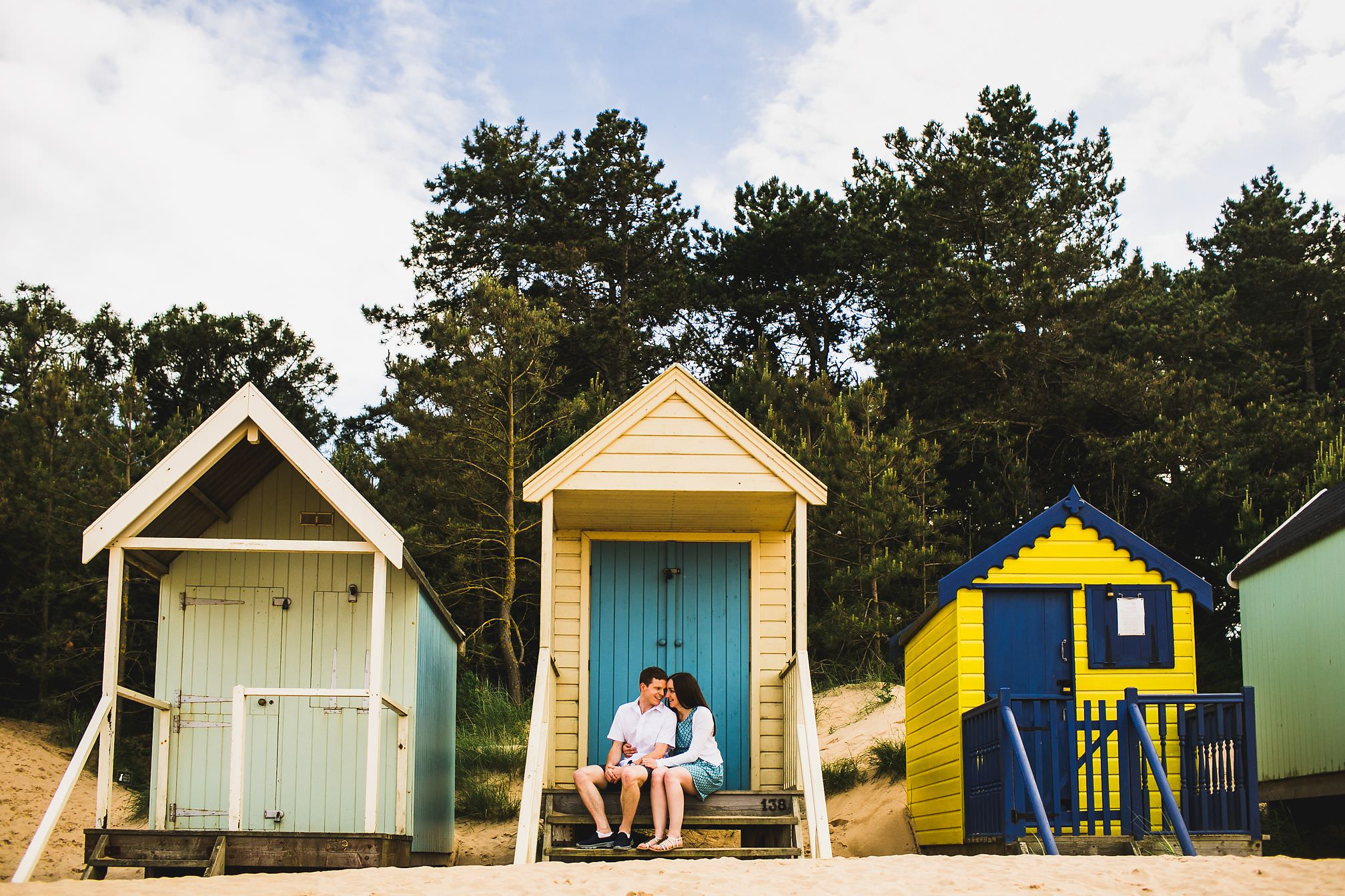 Wells-next-the-Sea Beach Hut Pre-Wedding Photo