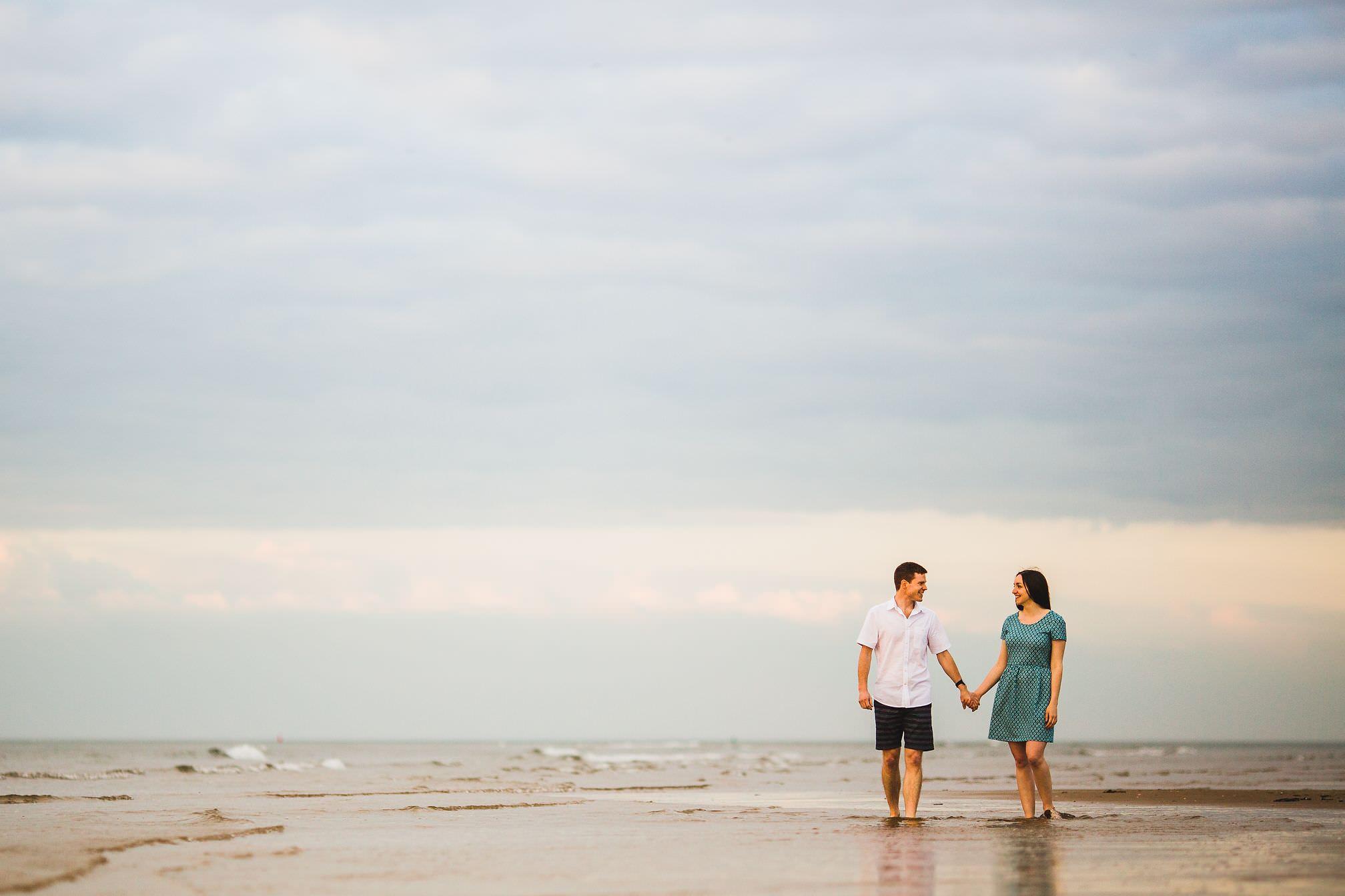 Walking in the sea, Wells-next-the-Sea
