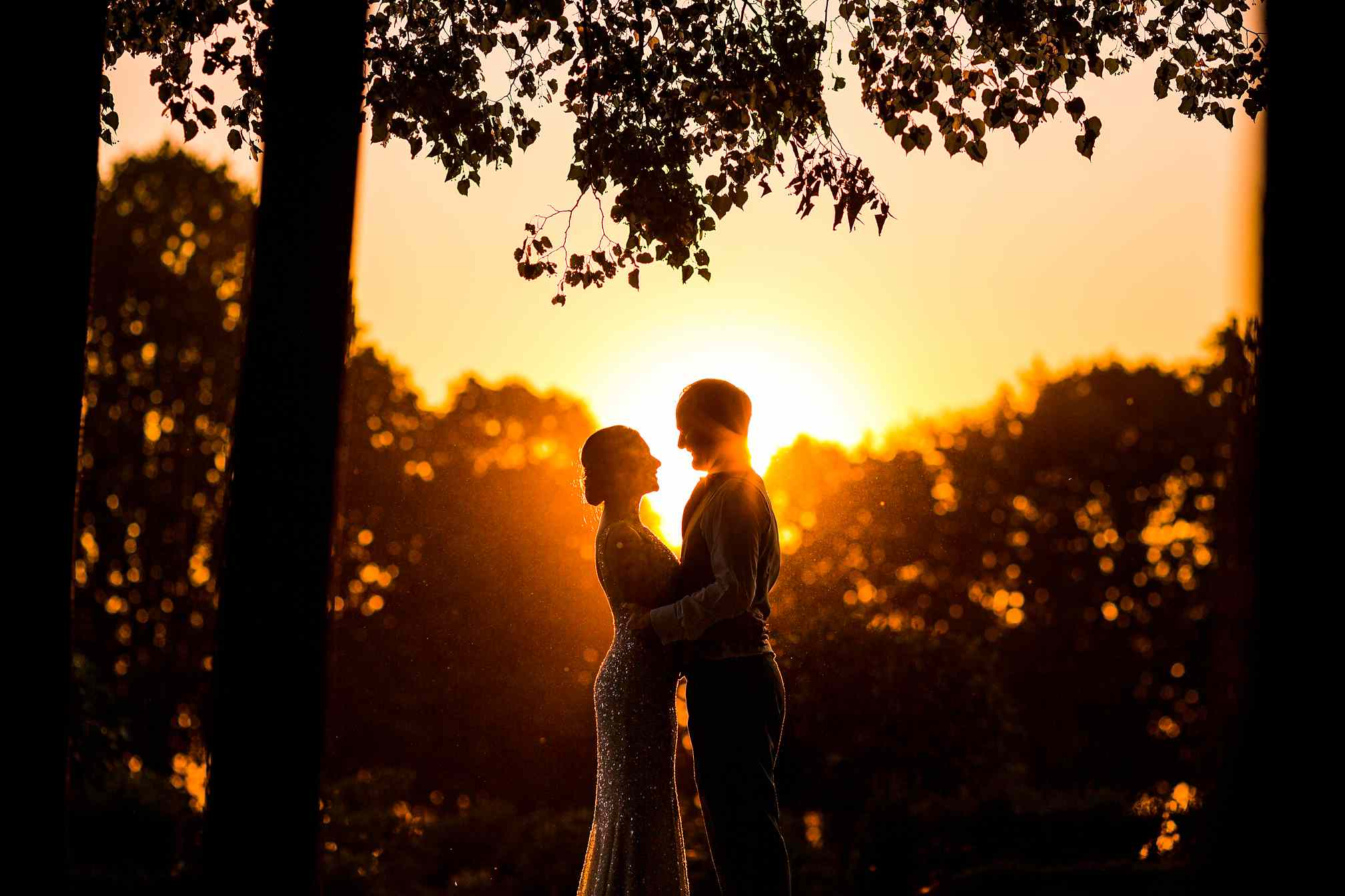 Wrest Park Wedding Photographer, Sunset Portrait